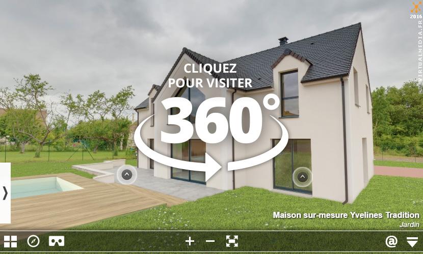 Nos visites virtuelles 360 de maison t moin et de mod le 3d for Visite maison de star