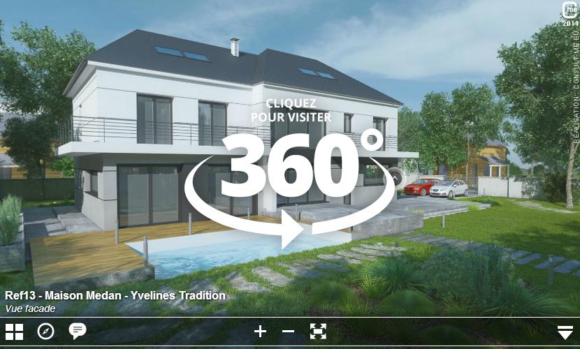 Nos visites virtuelles 360 de maison t moin et de mod le 3d for Visite gratuite dans les yvelines