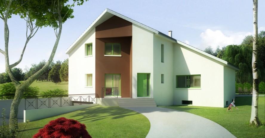 maison haut de gamme porche en v