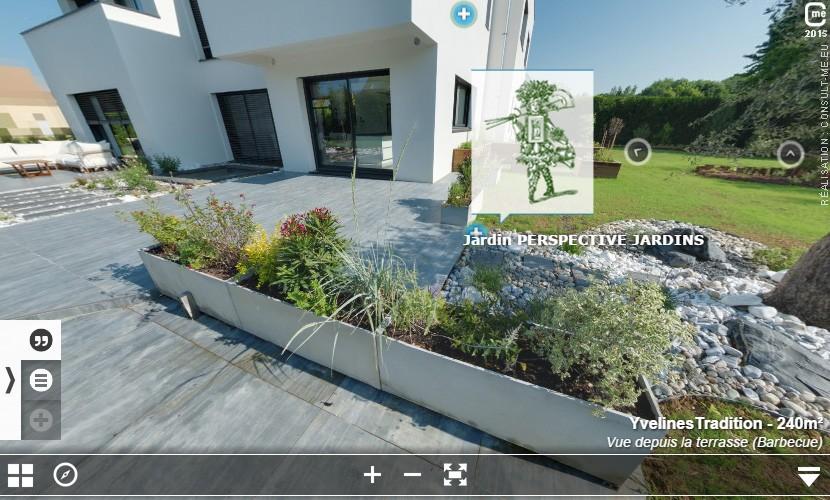 Jardin réalisé par PERSPECTIVE JARDINS, partenaire de Yvelines Tradition
